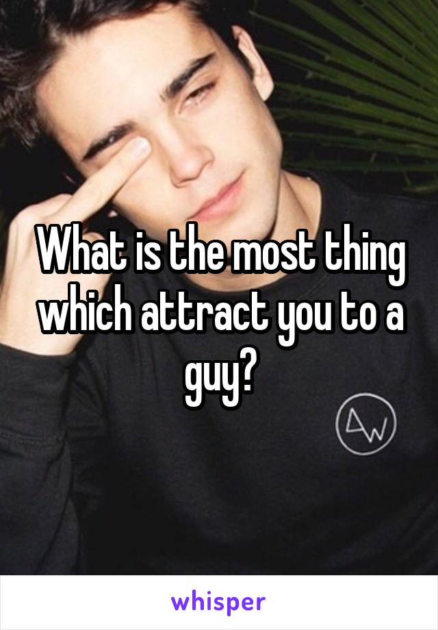 What is the most thing which attract you to a guy?