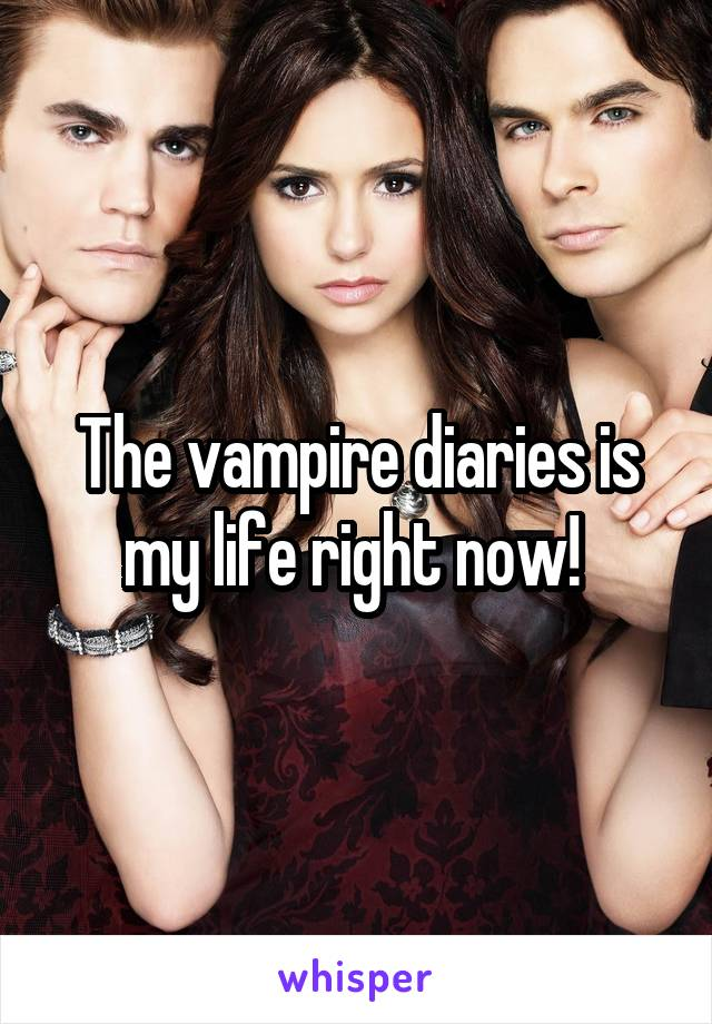 The vampire diaries is my life right now!