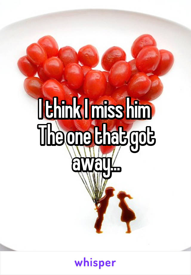 I think I miss him  The one that got away...