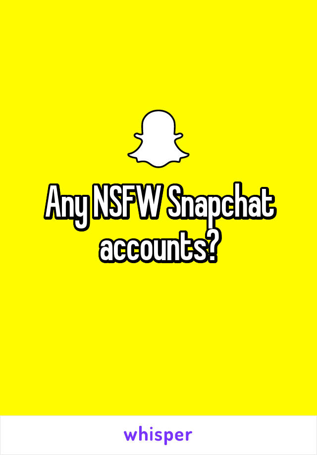 Dirty snapchat accounts