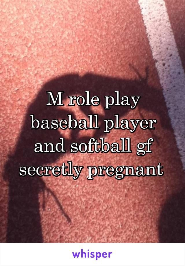 M role play baseball player and softball gf secretly pregnant