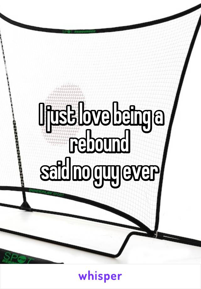 I just love being a rebound  said no guy ever