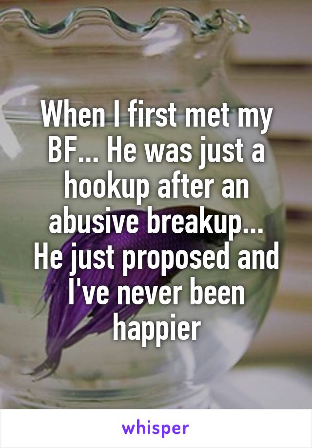 First hook up after break up
