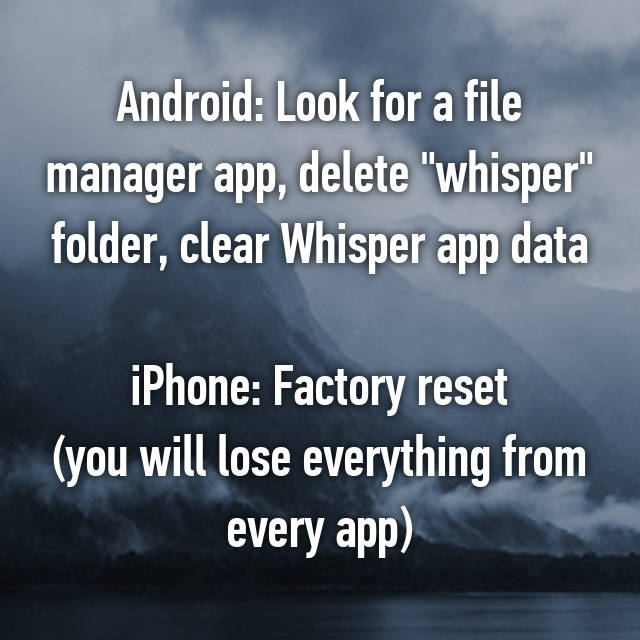 Android: Look for a file manager app, delete