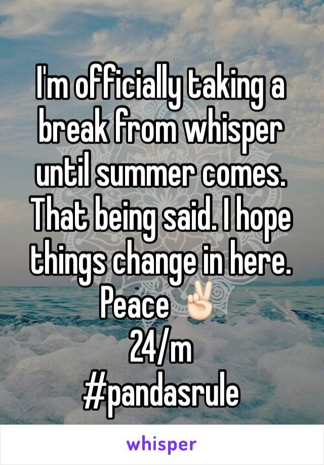Until summer comes