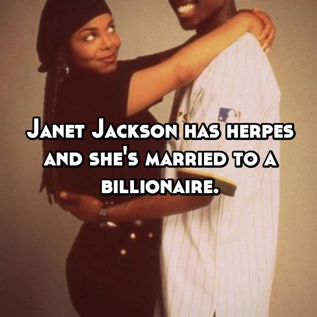 does janet jackson have herpes