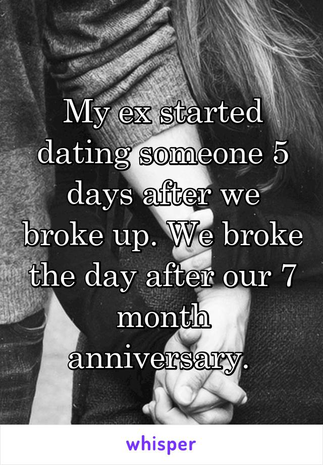 Ex is dating someone after a month