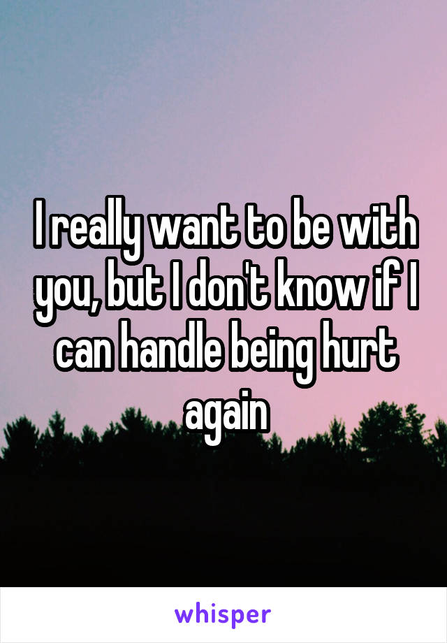 I really want to be with you, but I don't know if I can handle being hurt again