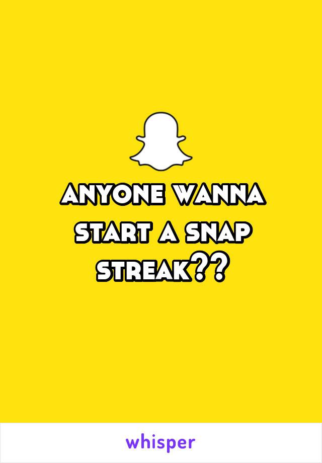 Wanna start a streak