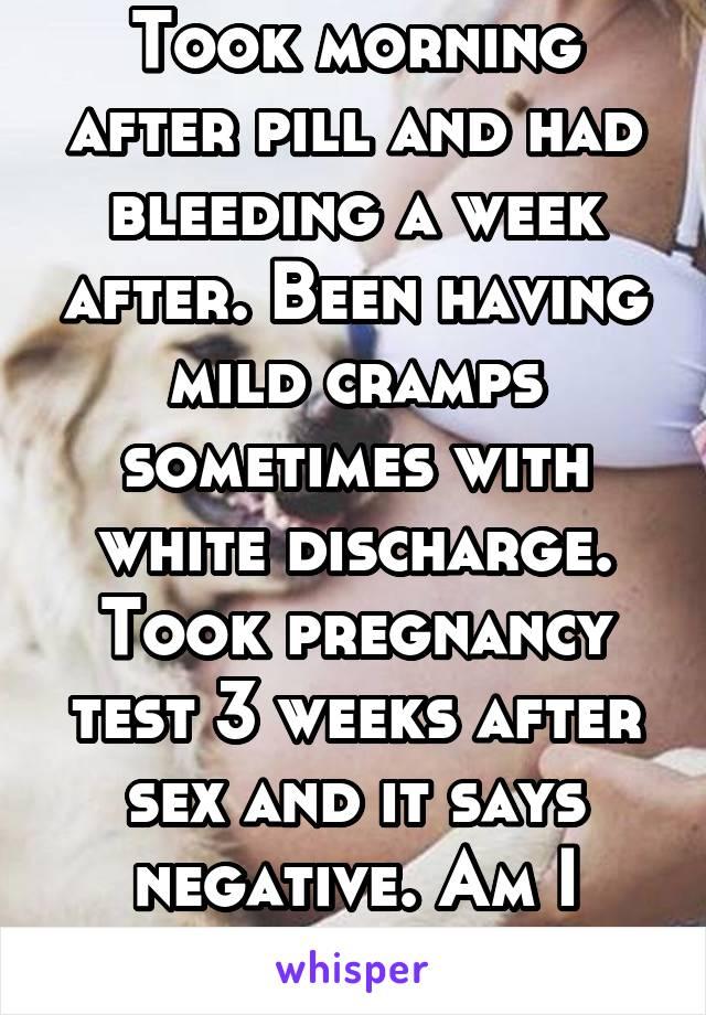 A week after sex
