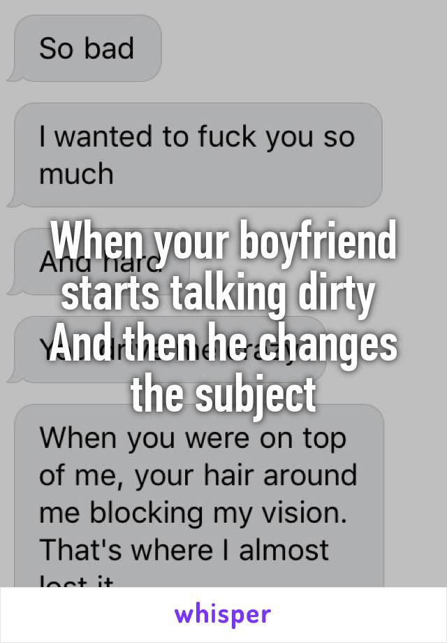 Dirty talk to your boyfriend