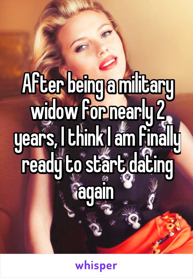 Dating again after becoming a widow