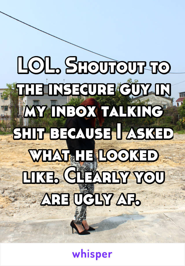 how to talk to an insecure guy