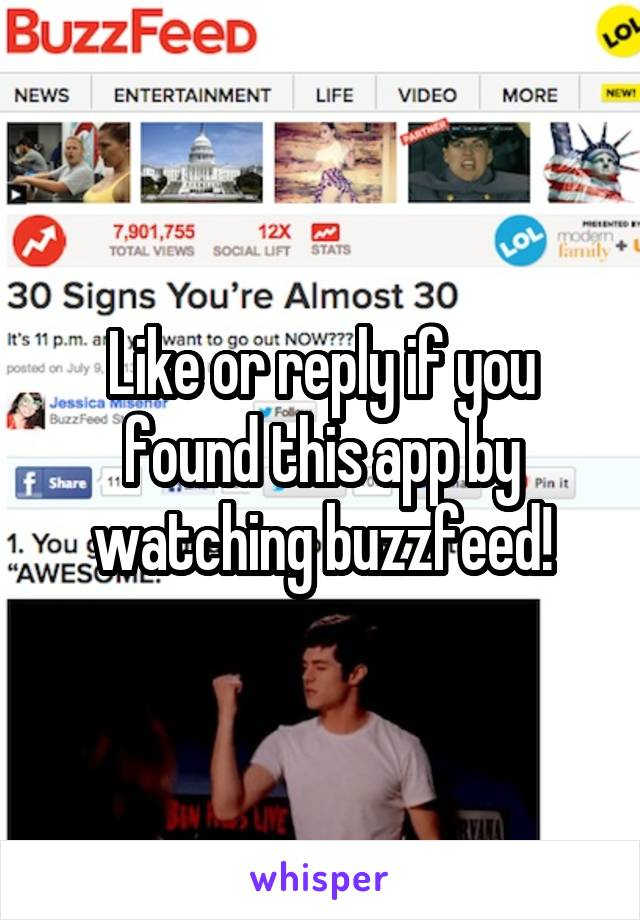 Like or reply if you found this app by watching buzzfeed!