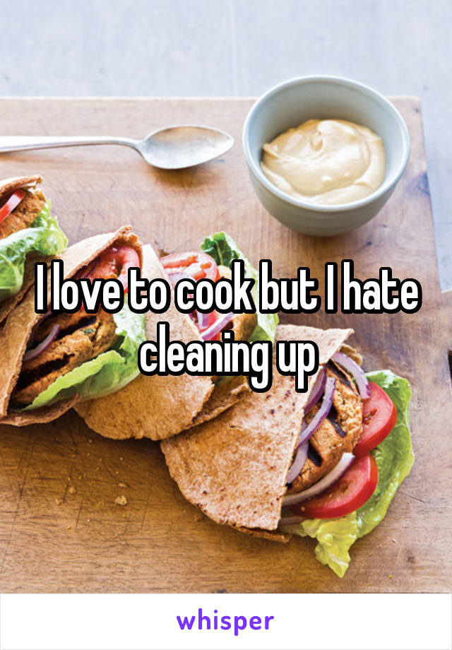 I love to cook but I hate cleaning up