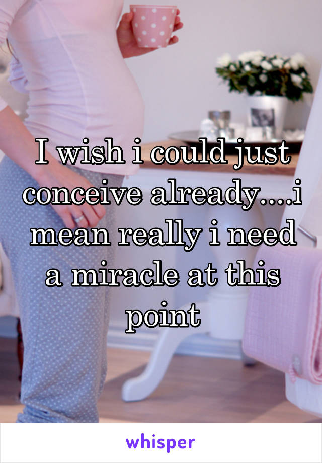 I wish i could just conceive already....i mean really i need a miracle at this point