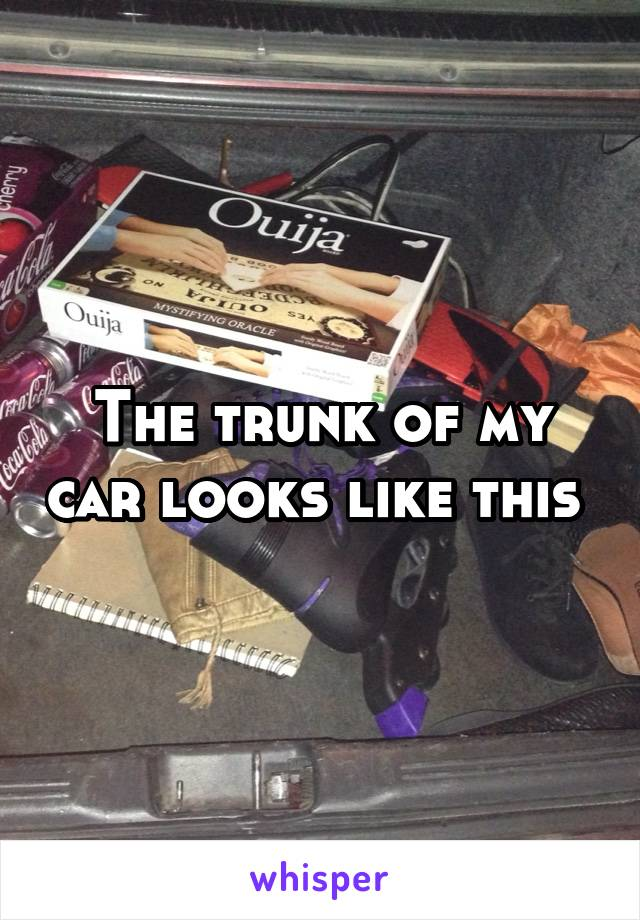 The trunk of my car looks like this