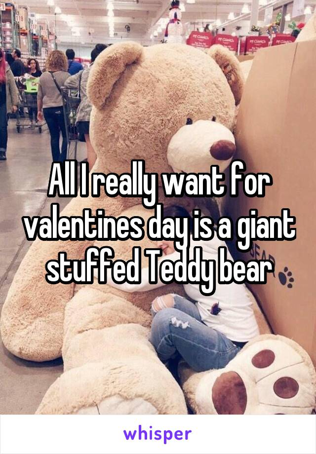 All I really want for valentines day is a giant stuffed Teddy bear