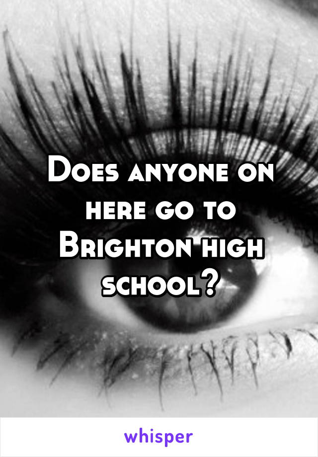 Does anyone on here go to Brighton high school?
