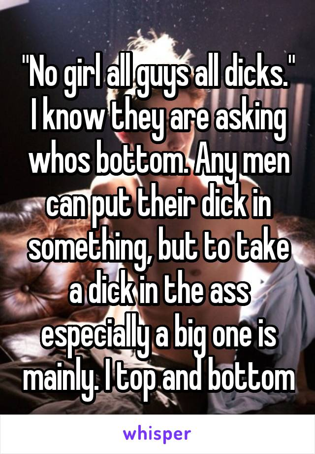 men and their dicks