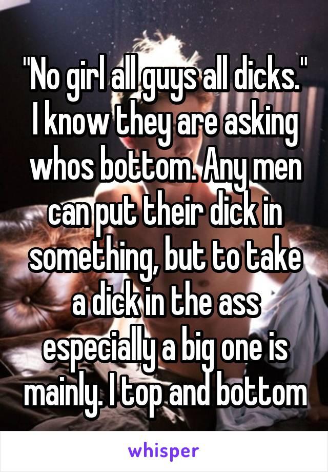 men and their dicks
