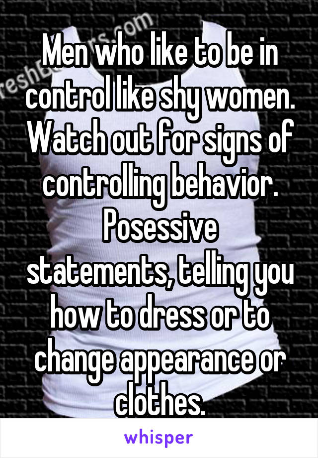 signs of controlling behavior