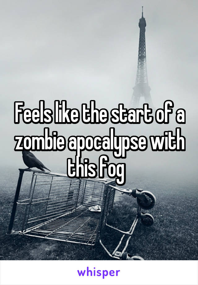Feels like the start of a zombie apocalypse with this fog