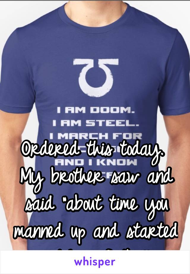 """Ordered this today.  My brother saw and said """"about time you manned up and started watching football."""" Go Ultramarines! >:)"""