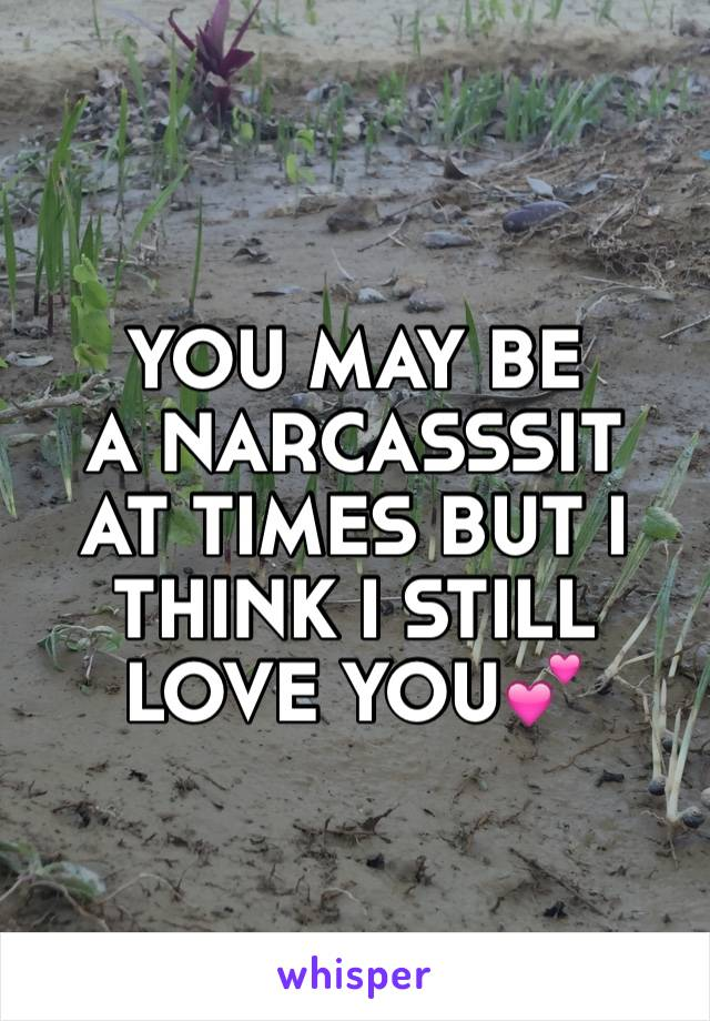 YOU MAY BE  A NARCASSSIT AT TIMES BUT I THINK I STILL LOVE YOU💕