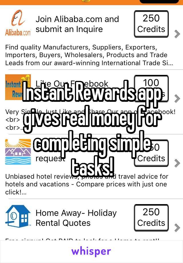 Instant Rewards app gives real money for completing simple tasks!