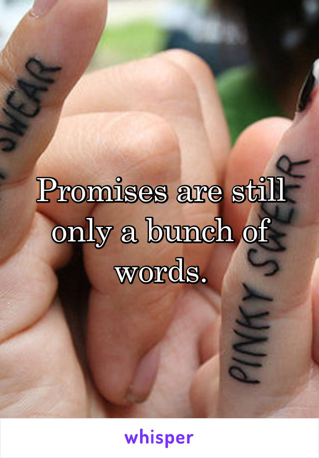 Promises are still only a bunch of words.