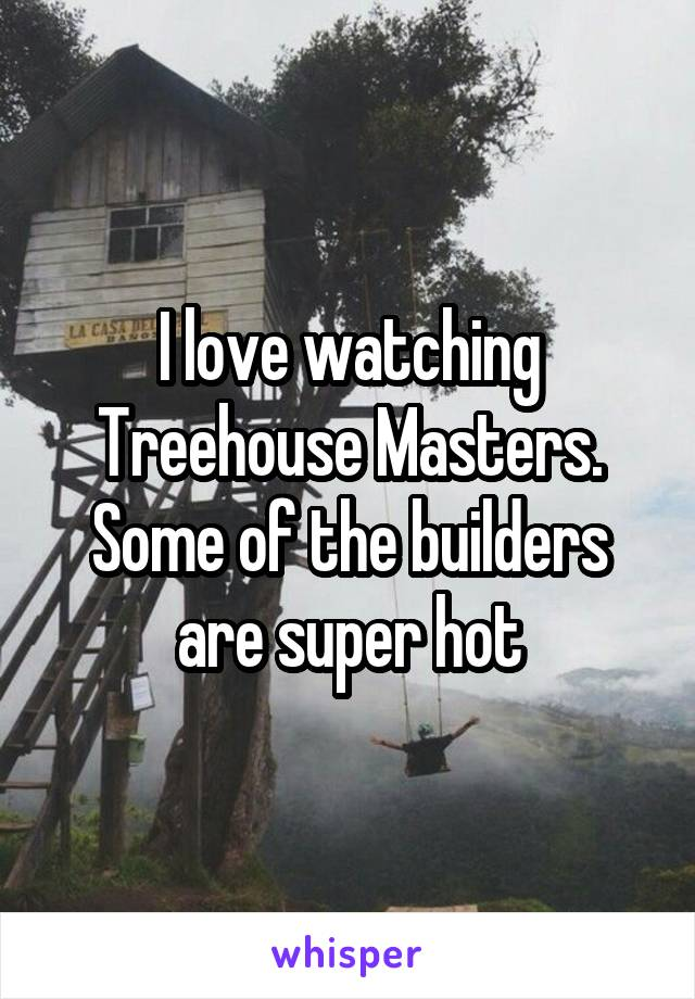 I love watching Treehouse Masters. Some of the builders are super hot
