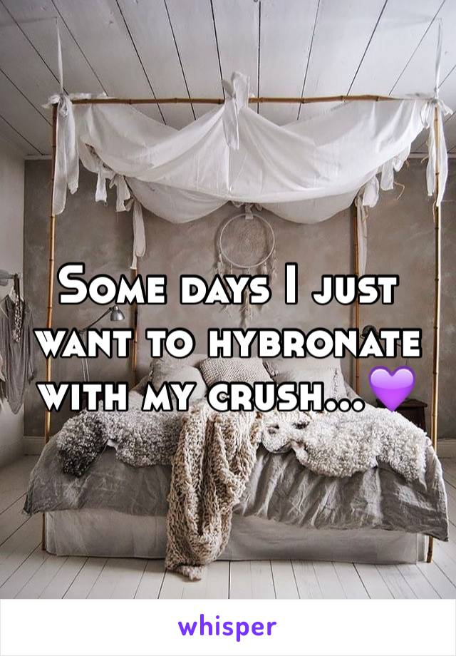 Some days I just want to hybronate with my crush...💜