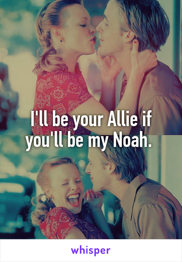 I'll be your Allie if you'll be my Noah.