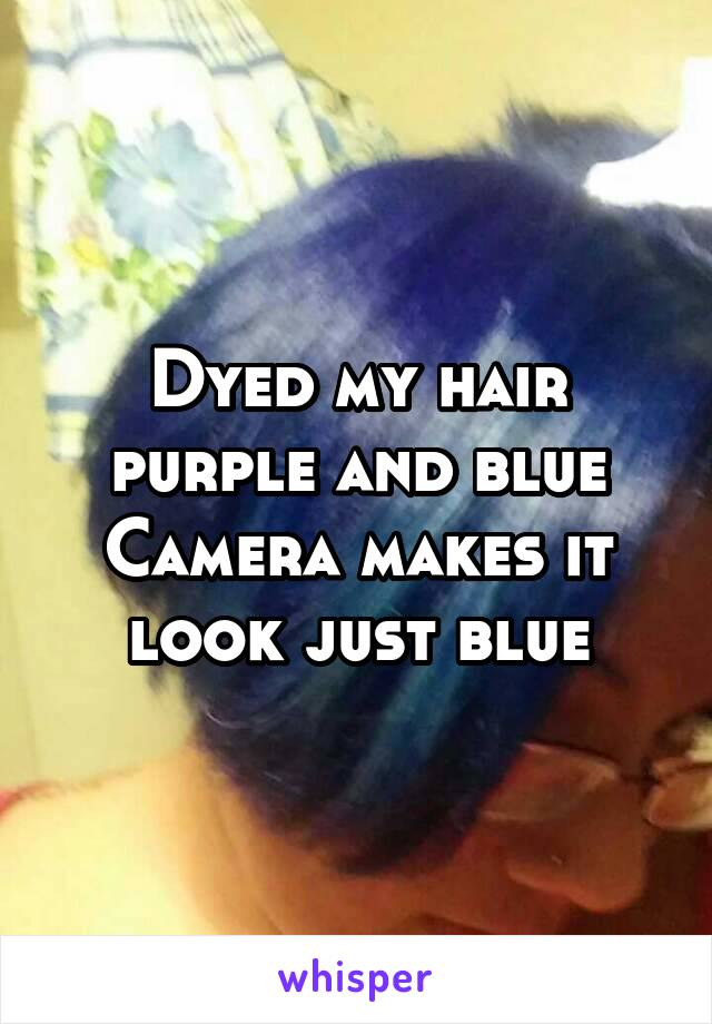 Dyed my hair purple and blue Camera makes it look just blue