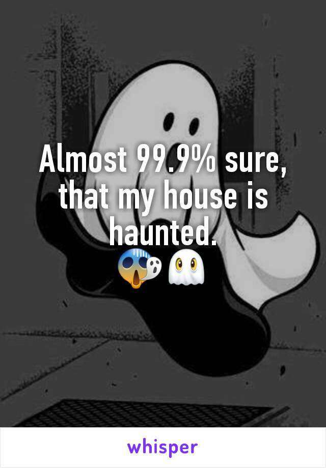 Almost 99.9% sure, that my house is haunted. 😱👻