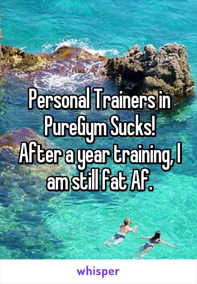 Personal Trainers in PureGym Sucks! After a year training, I am still fat Af.