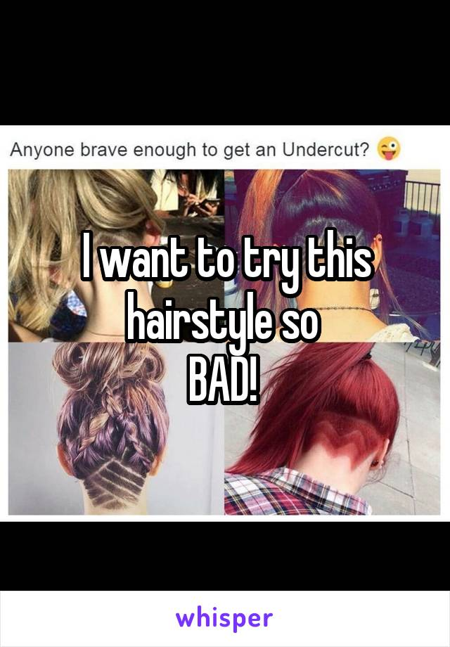 I want to try this hairstyle so  BAD!