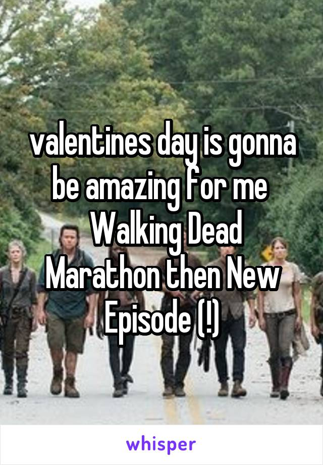 valentines day is gonna be amazing for me   Walking Dead Marathon then New Episode (!)
