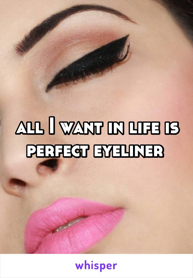 all I want in life is perfect eyeliner