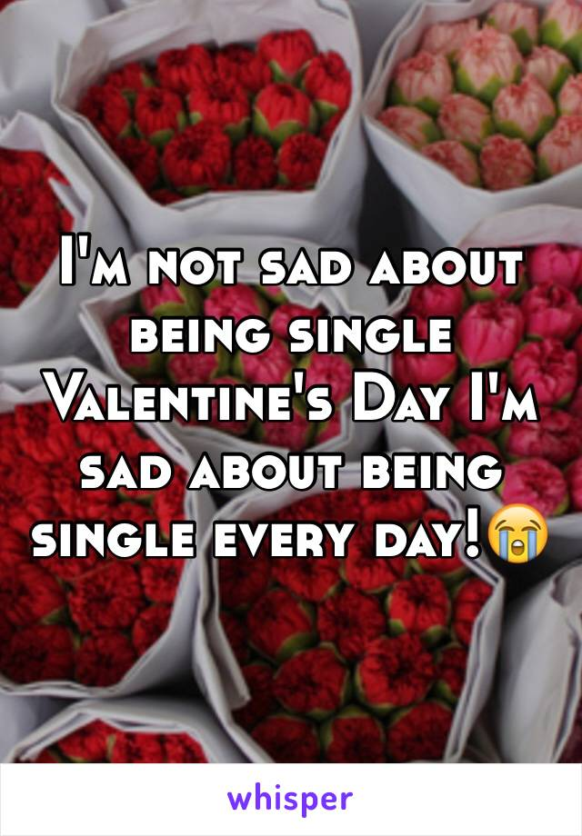 I'm not sad about being single Valentine's Day I'm sad about being single every day!😭