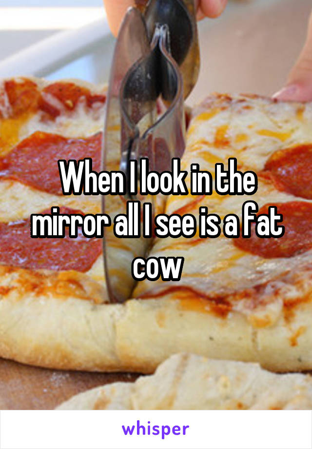 When I look in the mirror all I see is a fat cow