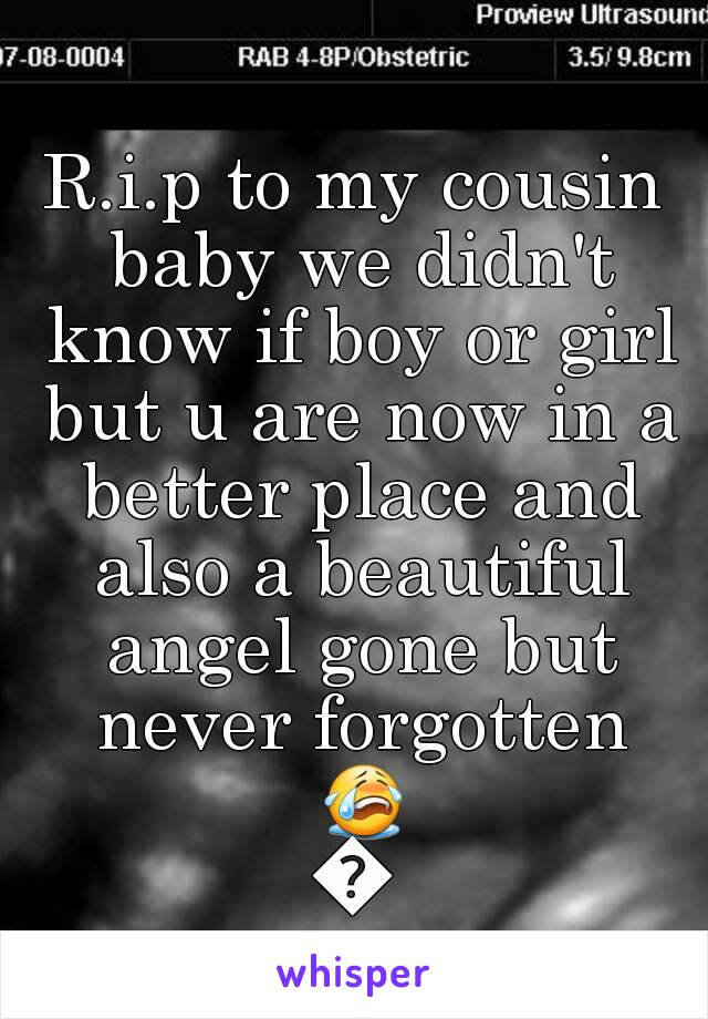 R.i.p to my cousin baby we didn't know if boy or girl but u are now in a better place and also a beautiful angel gone but never forgotten 😭😭