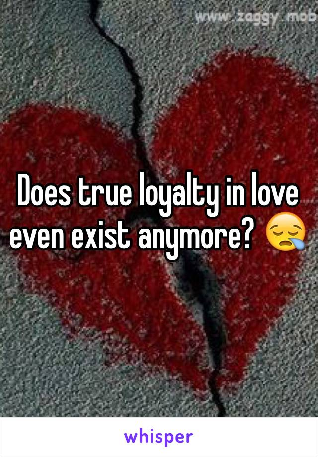 Does true loyalty in love even exist anymore? 😪