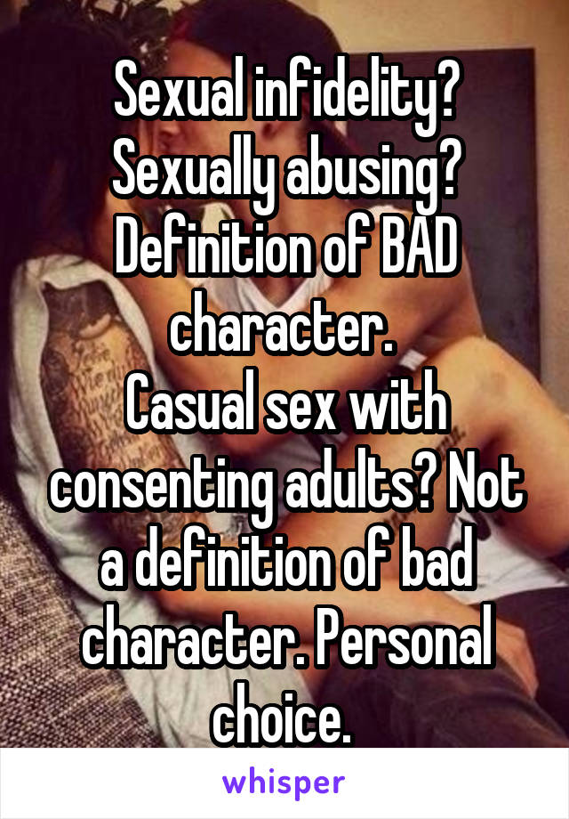 Casual sex definition