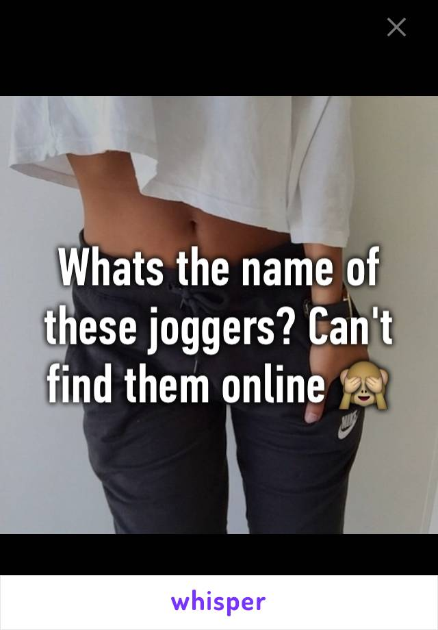 Whats the name of these joggers? Can't find them online 🙈