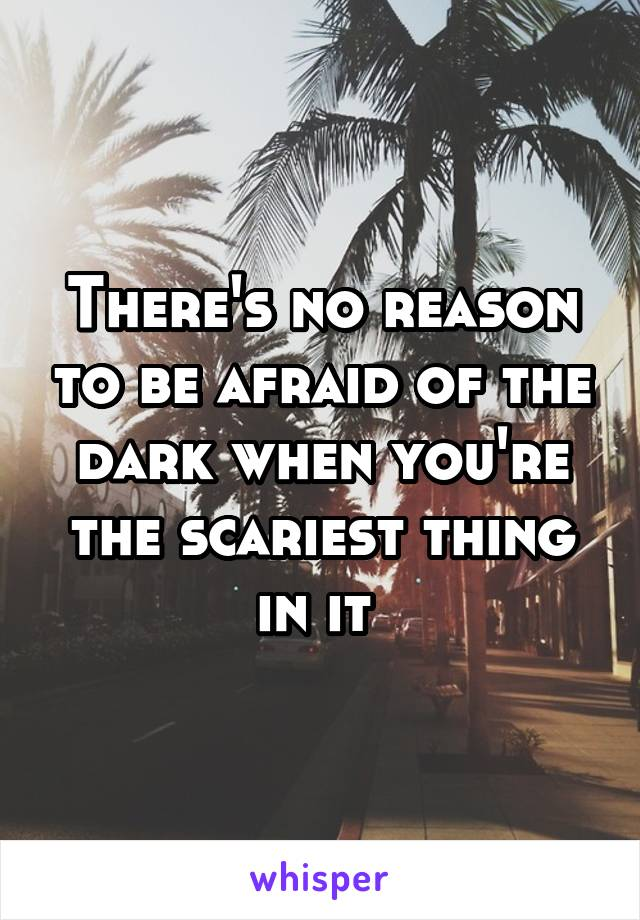 There's no reason to be afraid of the dark when you're the scariest thing in it
