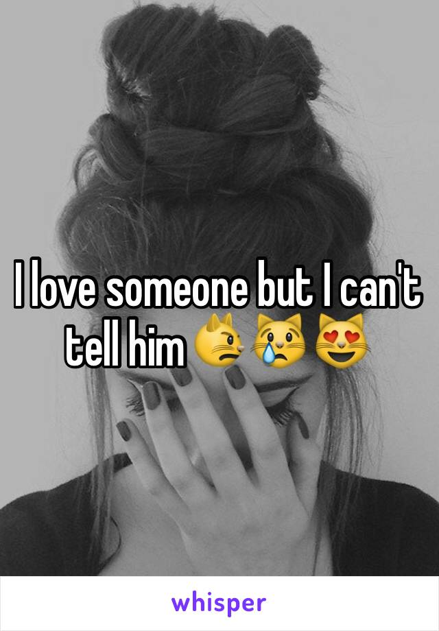 I love someone but I can't tell him😾😿😻
