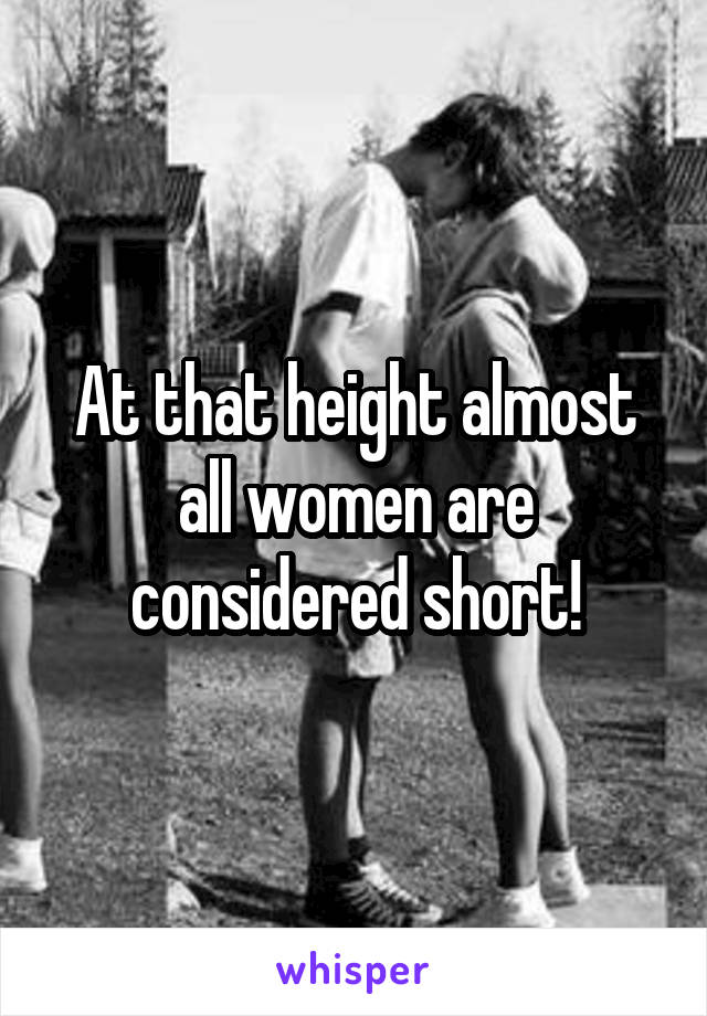 what height is considered short for a woman