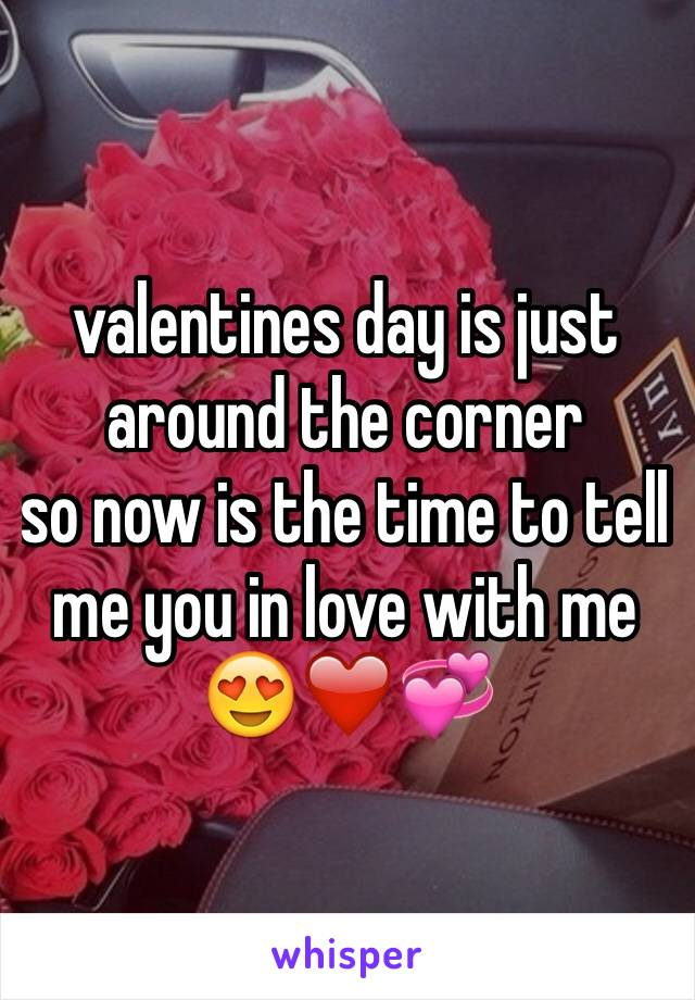 valentines day is just around the corner  so now is the time to tell me you in love with me 😍❤️💞